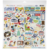 Carta Bella - Cardstock Element Sticker 12x12 - Family Night (FN114014)