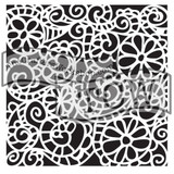 The Crafters Workshop - 6x6 Template Stencil - Mini Swirly Garden (TCW 325s)