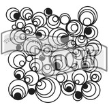 The Crafters Workshop - 6x6 Template Stencil - Mini Mod Spirals (TCW 424s)