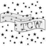 The Crafters Workshop - 6x6 Template Stencil - Mini Random Stars (TCW 479s)