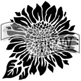 The Crafters Workshop - 6x6 Template Stencil - Mini Joyful Sunflower (TCW 575s)