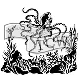 The Crafters Workshop - 6x6 Template Stencil - Mini Octopus (TCW 607s)