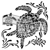 The Crafters Workshop - 6x6 Template Stencil - Mini Sea Turtles (TCW 610s)