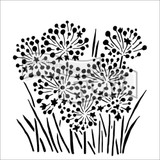 The Crafters Workshop - 6x6 Template Stencil - Mini Onion Blossoms (TCW 726s)