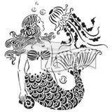 The Crafters Workshop - 6x6 Template Stencil - Mini Mermaid Dreams (TCW 783S)