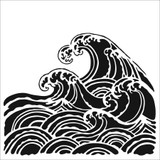 The Crafters Workshop - 6x6 Template Stencil - Wave (TCW 847s)