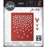 Sizzix - Tim Holtz - Thinlits Dies - Falling Hearts (664415)