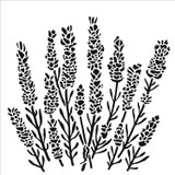 The Crafters Workshop - 6x6 Template Stencil - Lavender (TCW 860s)