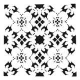 The Crafters Workshop - 6x6 Template Stencil - Poppy Grid (TCW 874s)