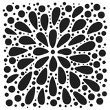 The Crafters Workshop - 12x12 Template Stencil - Explosion (TCW884)