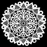 The Crafters Workshop - 6x6 Template Stencil - Striped Mandala (TCW 899s)