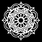 The Crafters Workshop - 6x6 Template Stencil - Leaf Emblem (TCW 905s)