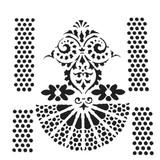 The Crafters Workshop - 6x6 Template Stencil - Quadrangle Fan (TCW 909s)