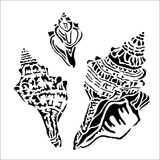 The Crafters Workshop - 6x6 Template Stencil - Conch Shells (TCW 919s)