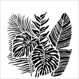 The Crafters Workshop - 6x6 Template Stencil - Tropical Fronds (TCW 920s)