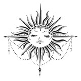The Crafters Workshop - 6x6 Template Stencil - Celestial Sun (TCW 923s)