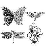 The Crafters Workshop - 6x6 Template Stencil - Nature's Circuitry (TCW 925s)