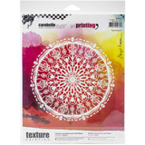 Carabelle Studio - Art Printing Round Rubber Texture Plate - Floral Rosette (APRO0028)