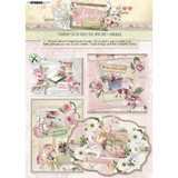Studio Light - Die-Cut Card Toppers A4 12/Pkg - Lovely Moments (STANSL87)