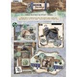 Studio Light - Denim Saturdays - Die-Cut Card Toppers A4 12/Pkg (STANSL88)