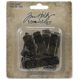 Tim Holtz Idea-Ology - Type Chips 42/Pkg (TH94031)