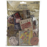 Tim Holtz Idea-ology - Chipboard Baseboards 40/Pkg - Junk Drawer (TH94044)