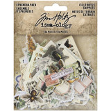 Tim Holtz Idea-Ology - Ephemera Snippets Pack 134 pcs- Field Notes (TH94049)