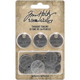 Tim Holtz - Idea-Ology - Metal Adornments 18/Pkg - Thought Tokens (TH94024)