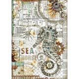 Stamperia - Decoupage Rice Paper A4 - Seaworld Collection - Seahorse (DFSA4431)