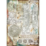 Stamperia - Decoupage Rice Paper A4 - Seaworld Collection - Industrial (DFSA4433)