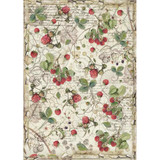 Stamperia - Decoupage Rice Paper A4 - Forest Collection - Raspberry (DFSA4429)