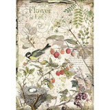 Stamperia - Decoupage Rice Paper A4 - Forest Collection - Flowers & Fruits (DFSA4459)