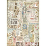 Stamperia - Decoupage Rice Paper A4 - Imagine Collection - Love Art (DFSA4438)