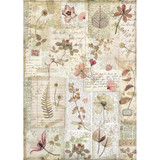 Stamperia - Decoupage Rice Paper A4 - Imagine Collection - Pressed Flowers (DFSA4440)
