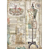 Stamperia - Decoupage Rice Paper A4 - Imagine Collection - Mannequin (DFSA4442)