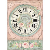 Stamperia - Decoupage Rice Paper A4 - House of Roses Collection - Clock (DFSA4444)