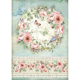 Stamperia - Decoupage Rice Paper A4 - House of Roses Collection - Roses & Butterfly (DFSA4445)