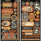 Graphic 45 - Sticker Element Sheets 2/6x12 - Farmhouse (G4502062)