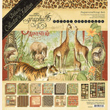 "Graphic 45 - Deluxe Collector's Edition Pack 12""X12"" - Safari Adventure (G4502022)"