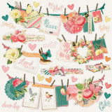 Simple Stories - Banners Sticker Sheet 12x12 - Simple Vintage Garden District (GD12502)