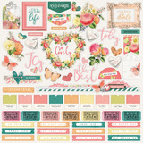 Simple Stories - Combo Sticker Sheet 12x12 - Simple Vintage Garden District (GD12501)
