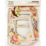 Simple Stories - Chipboard Layered Frames Die-Cuts 6/Pkg - Simple Vintage Garden District (GD12520)