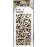"Tim Holtz / Stampers Anonymous Layered Stencil 4.125""X8.5"" - Doodle Art 1 (THS 141)"
