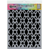 "Dyan Reaveley Dylusions Large Stencil 9""X12"" - Fancy Floor (DYSL 71501)"