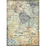 Stamperia - Decoupage Rice Paper 8.25 x 11.5 - Maps (DFSA4457)