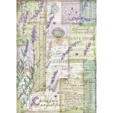 Stamperia - Decoupage Rice Paper 8.25 x 11.5 -Lavender Fantasy (DFSA4455)