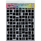 "Dyan Reaveley Dylusions Large Stencil 9""X12"" - Betsy's Block (DYSL 71488)"