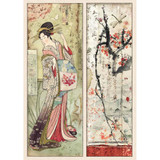Stamperia - Decoupage Rice Paper 8.25 x 11.5 -Packed Geisha (DFSA4454)