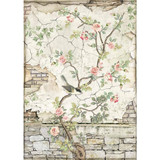 Stamperia - Decoupage Rice Paper 8.25 x 11.5 - House of Roses - Little Bird On Branch (DFSA4446)