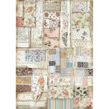 Stamperia - Decoupage Rice Paper 8.25 x 11.5 - Imagine - Patchwork Feather (DFSA4439)